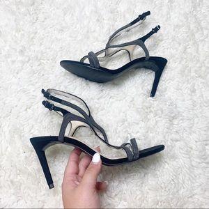 Zara   Black Strappy Stiletto Heels